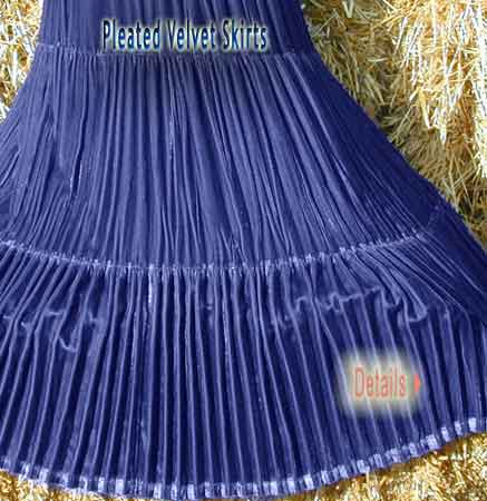 Plush Navajo Velvet Pleated Skirt